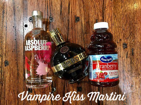 Vampire Kiss Martini | A Halloween twist on the traditional vodka cranberry cocktail. Get the recipe here: http://mollysspirits.com/recipes/vampire-kiss-martini/