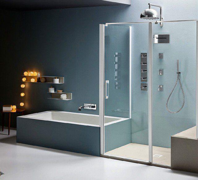 Vasca e doccia insieme, per risparmiare spazio Vasche
