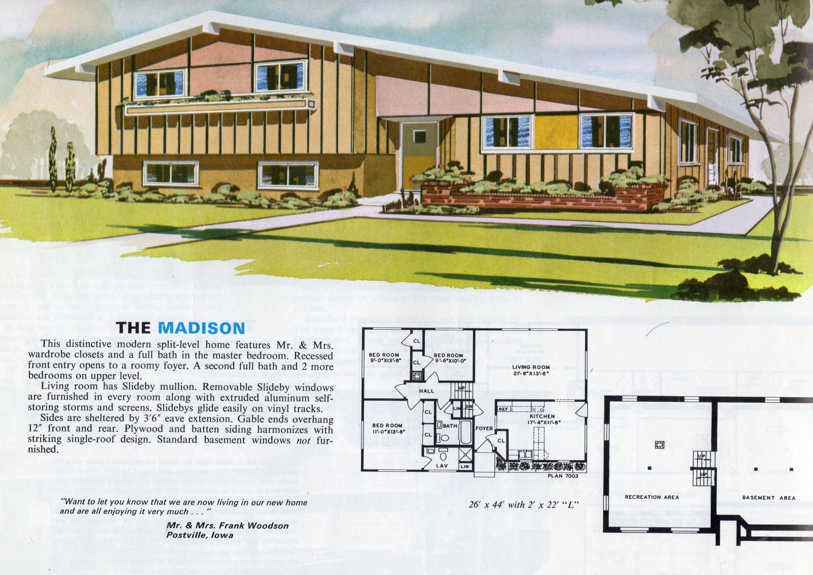 Mid Century Modern house, architectural plans | Mid ...