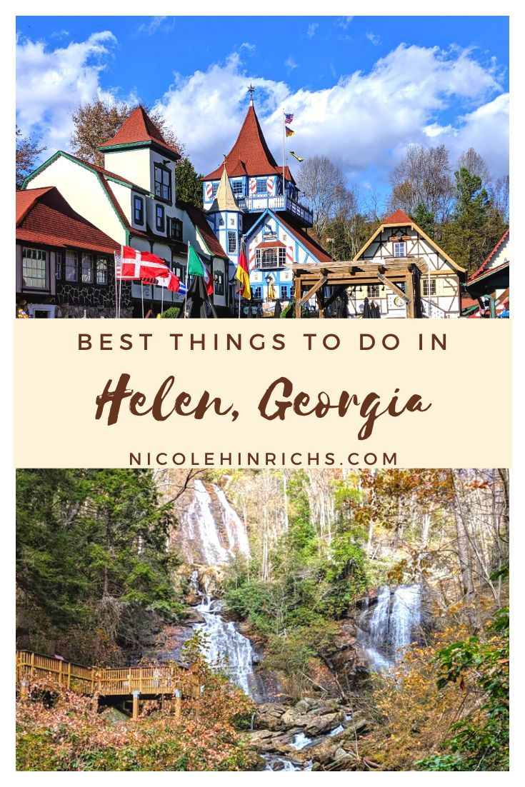 Best Things To Do In Helen, Georgia For a Weekend Getaway. Helen is a quaint German-style town nestled away in the Blue Ridge Mountains of Northern Georgia. Continue reading for a complete guide of what to see, do and eat while in Helen.    #helen #georgia #exploregeorgia #travelguide #germantown #bavarian #ustraveldestinations