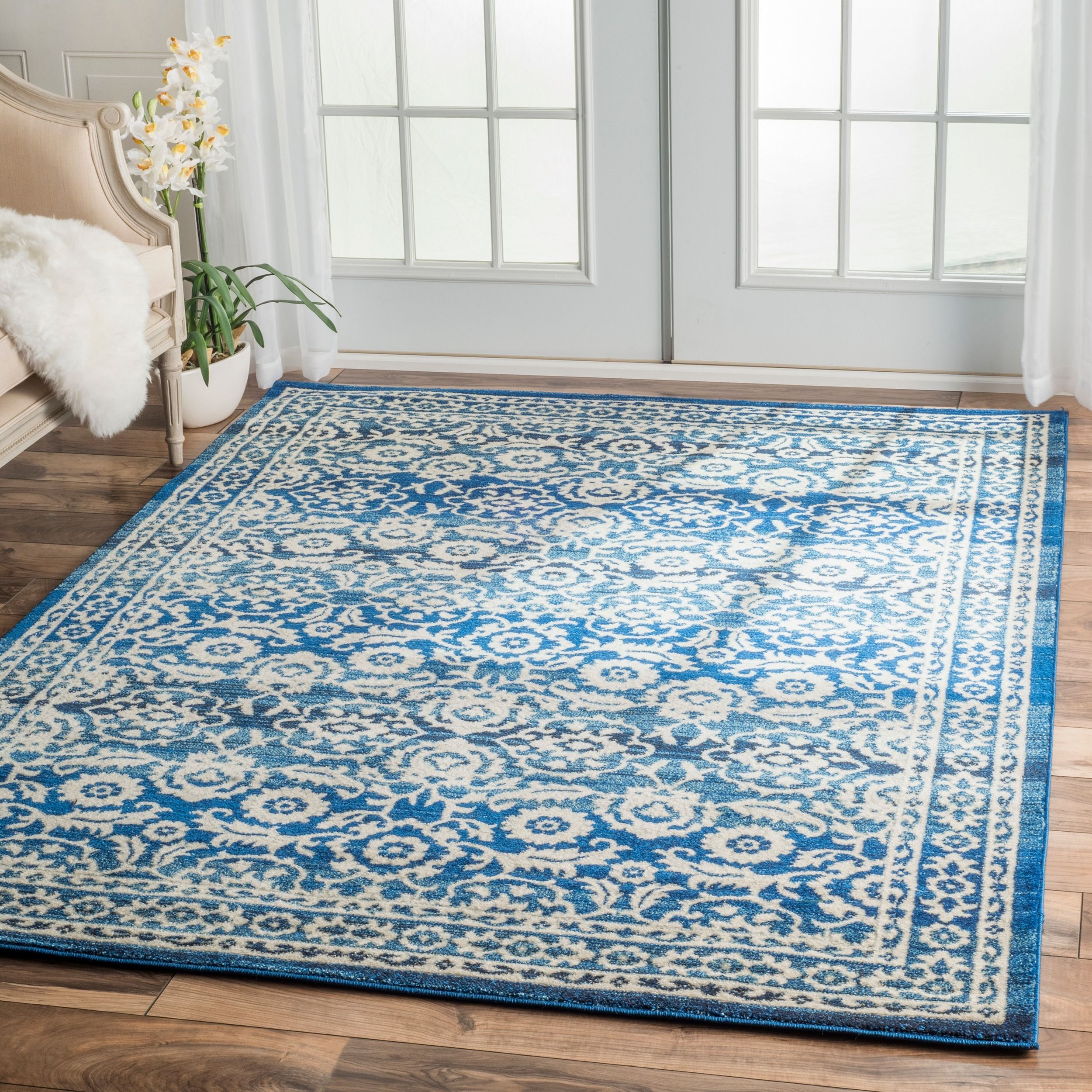 nuloom traditional persian vintage dark blue rug 9u0027 x 12u0027