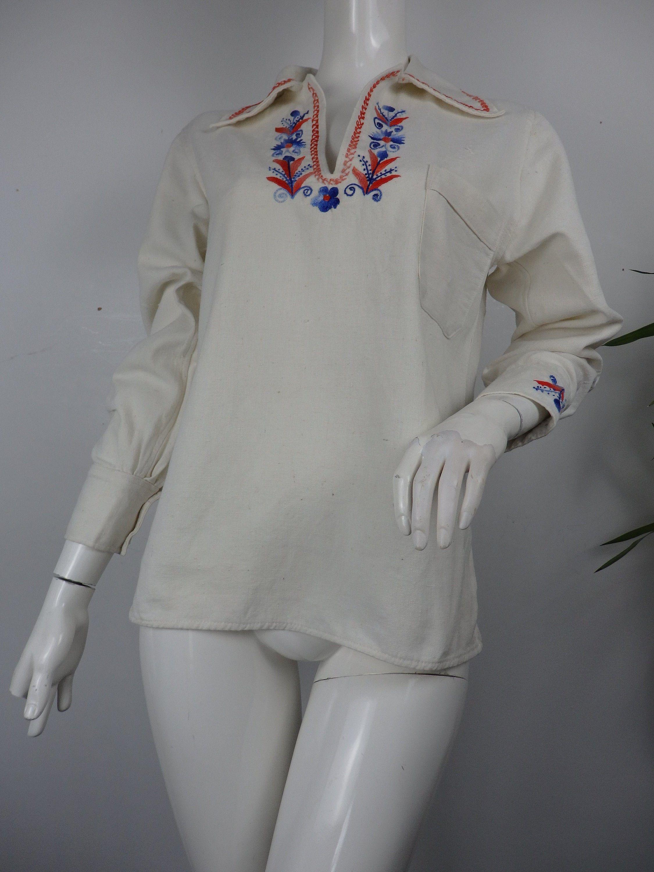 Vintage 70s blouse UK 6-8
