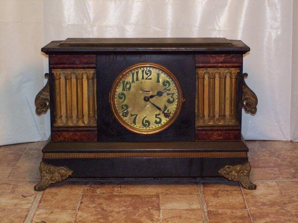 Antique Ingraham 8 Day Mantle Clock 1910 | eBay