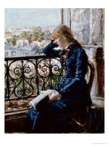 At the Window, 1881 - Hans Olaf Heyerdahl