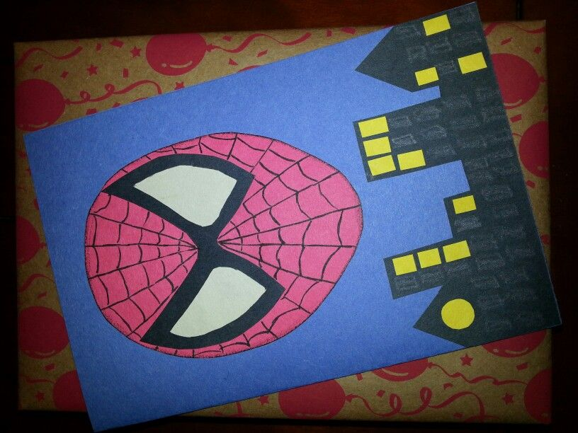Spider man birthday card projects pinterest spider man spider man birthday card bookmarktalkfo Image collections