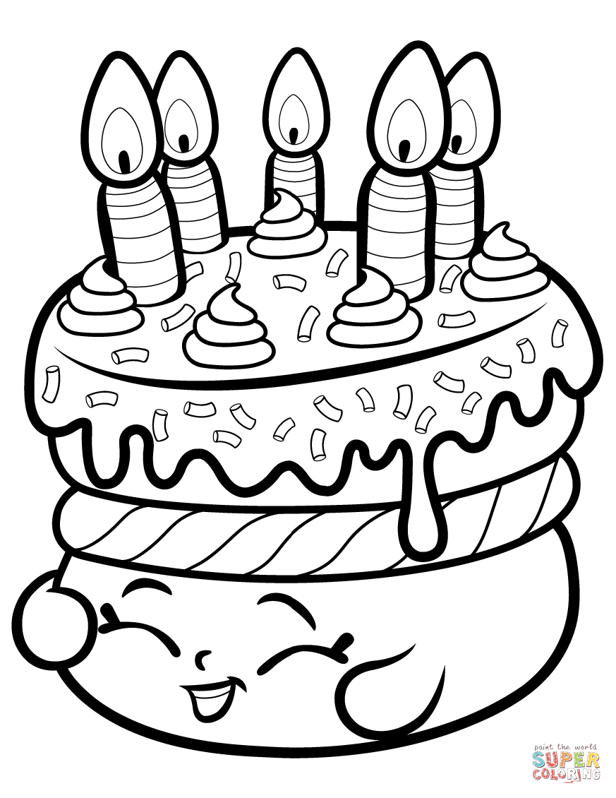 photograph relating to Free Printable Shopkins Coloring Pages identified as Cake Desires Shopkin coloring webpage Absolutely free Printable Coloring