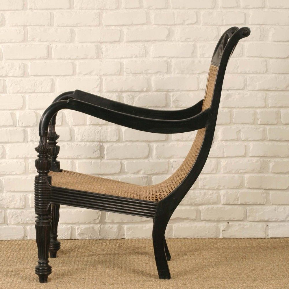Antique cane chair styles - Anglo Indian Plantation Chair Side