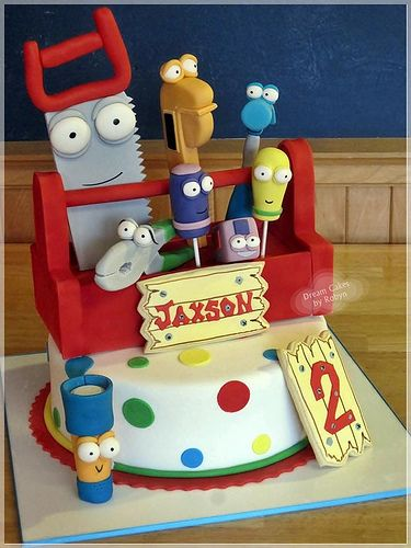 Strange Handy Manny Cake With Images Handy Manny Birthday Party Handy Birthday Cards Printable Inklcafe Filternl