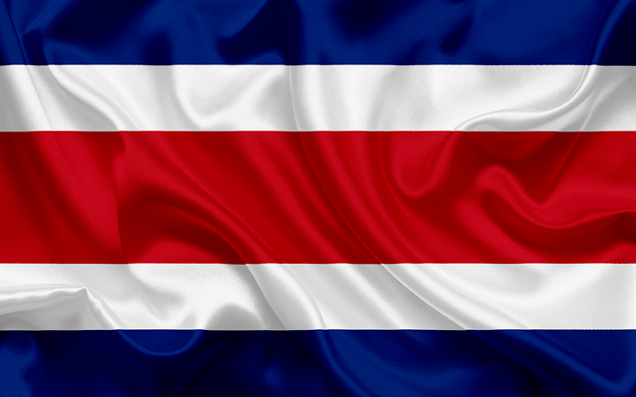 Download Wallpapers Flag Of Costa Rica Central America Costa Rica National Flag Besthqwallpapers Com Costa Rica Flag Costa Rica Flag