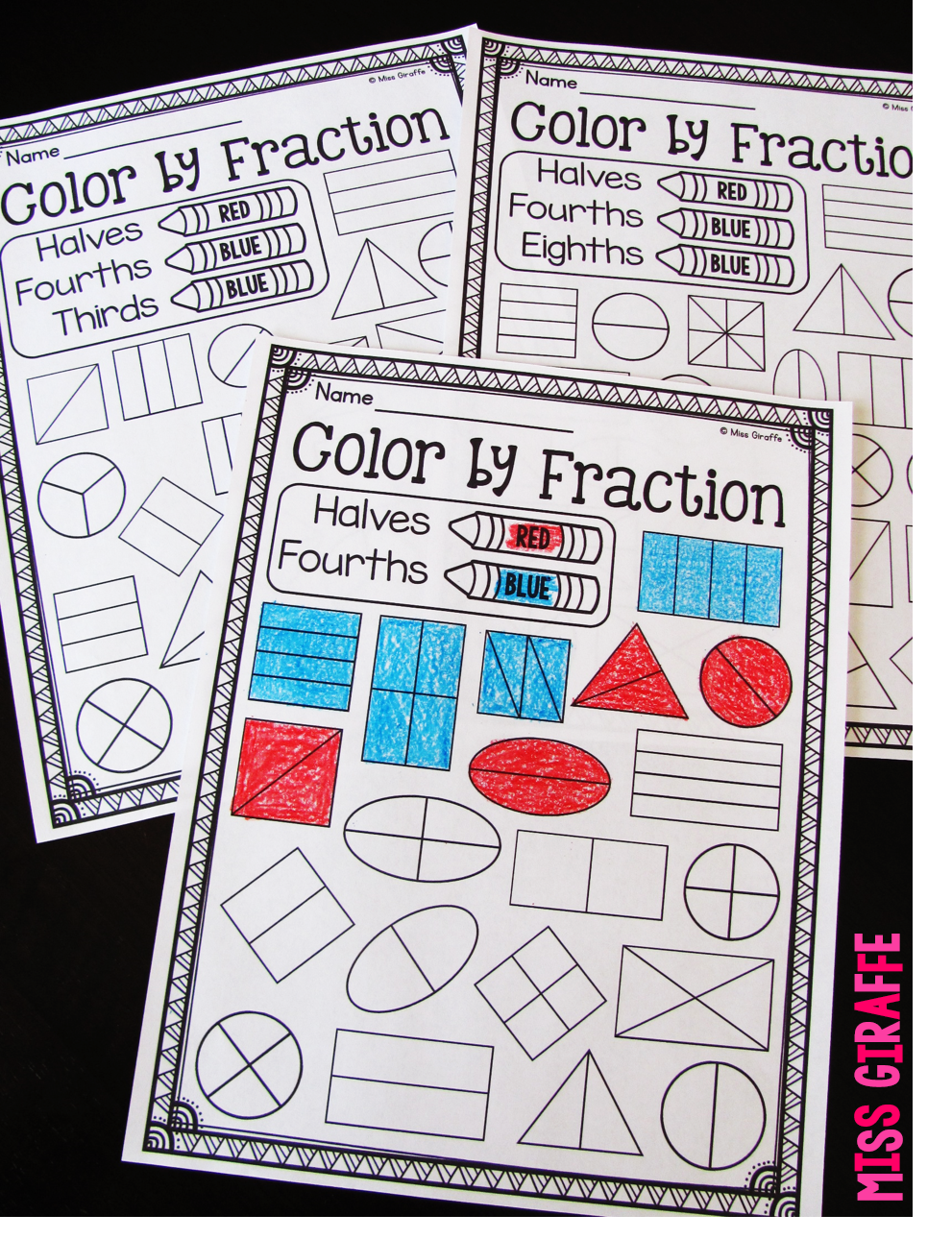 Fractions In First Grade Pinterest Worksheets Activities And Math