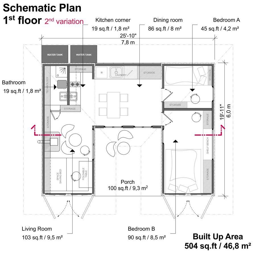 Two Container House Plans In 2020 Container House Plans
