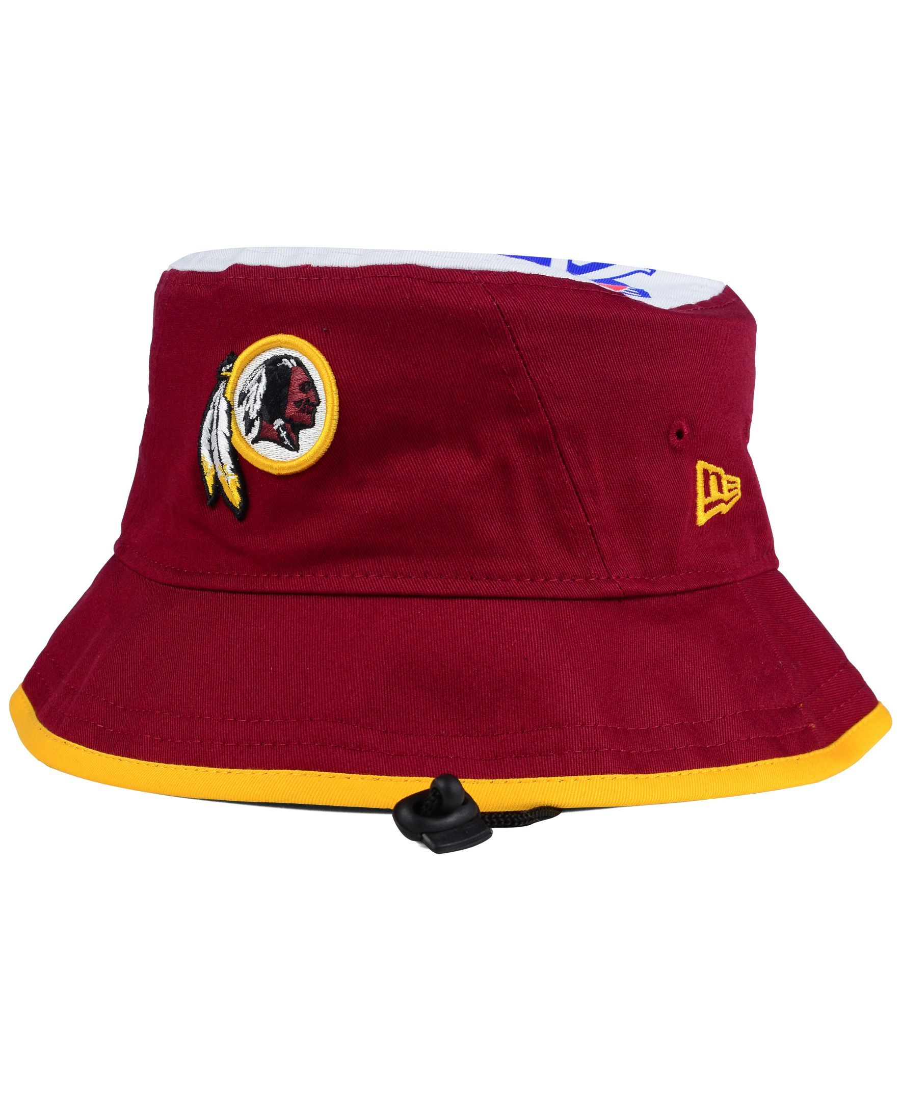 huge selection of 2306e 0b9c3 ... low price new era washington redskins traveler bucket hat 08603 2442a