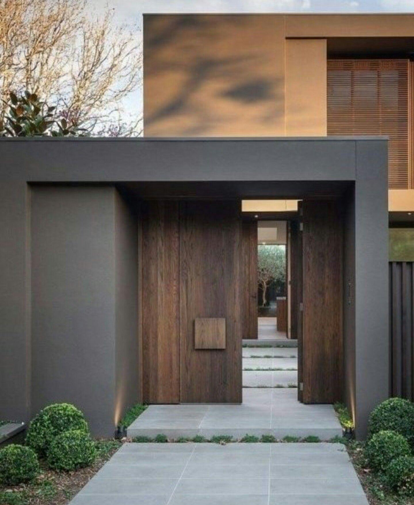 Cool Architecture, Modern Minimalist, Future House, Doors, House Ideas, Stone,
