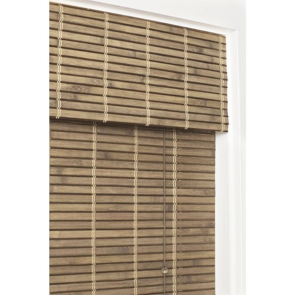Home Decorators Collection Driftwood Flatweave Bamboo Roman Shade 27 In W X 72 In L 0259527 At The Home Depo Bamboo Roman Shades Roman Shades Bamboo Shades