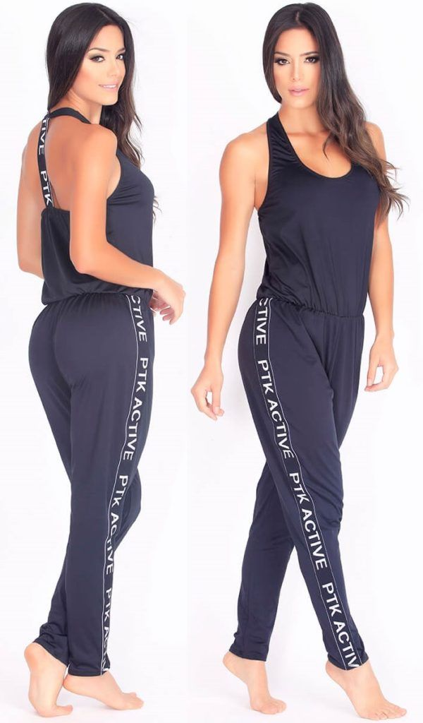 Protokolo 2897 Bodysuit Women Sports Clothing Sexy Workout Wear Gym Clothing Activewear Apparel is part of Workout Clothes Black - Thisfantastic bodysuitenables multiwear options  This is amust have this season! Spectacular loose design with round neck and original open back  Branded lines running down the sides complete this super comfortable and functional piece  Supperflattering fit  Multioptions onepiece that will provide you with a modern look anywhere you go  Made of 85%Polyester and 15% Spandex  Flattering and fashionable Activewear  This versatile women's bodysuit can be worn for your workout, afternoon casual, for yoga, running,training or lounging at home  Look and feel sexy!! Women Activewear  Sexy Workout Clothes  Woman Gym Apparel  Woman Sportswear  Sexy Fitness Clothing  Women Workout Clothing