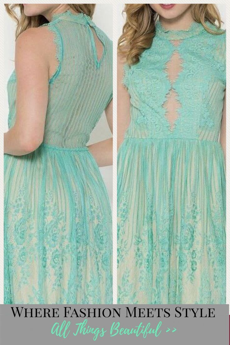 Green dress with lace overlay  Still The One Teal Eyelash Lace Evening Dress l Gorgeous teal blue