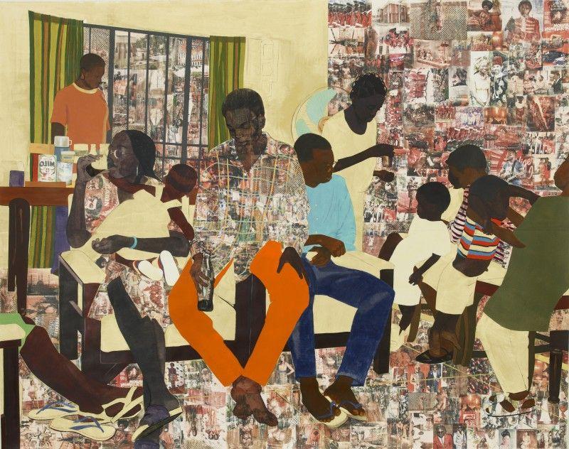Paintings by Njideka Akunyili: njideka-akunyili-5-umezebi-st-new-haven-enugu-800x632.jpg