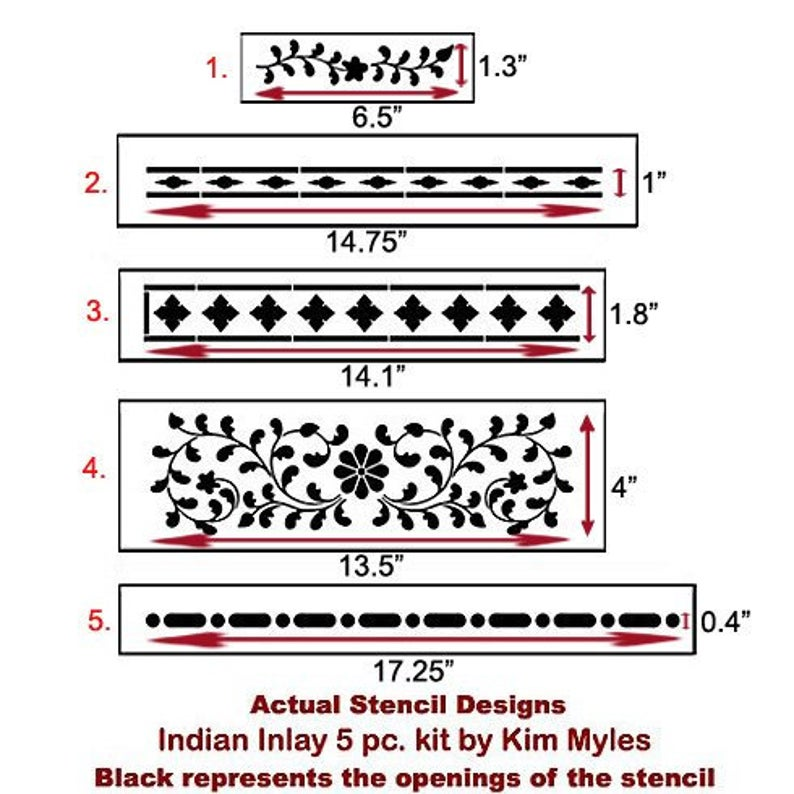 Indian Inlay Stencil Kit - DIY Bone Inlay Stencil