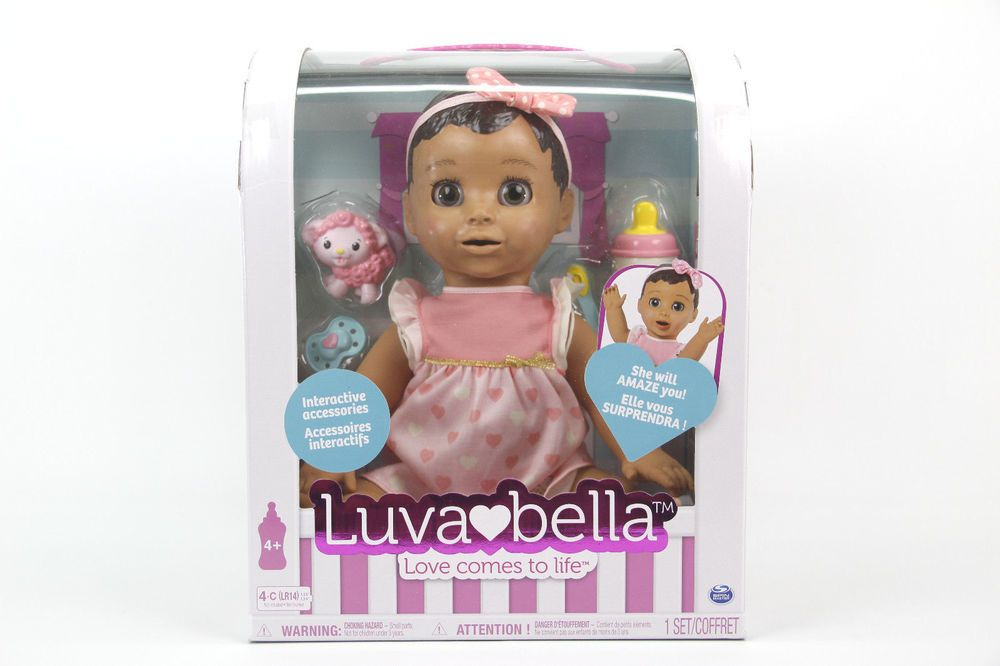 Luvabella Brown Hair Interactive Responsive Baby Doll with Expressions Movement