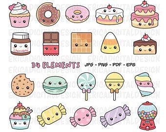 Clipart Food Etsy Au Cute Kawaii Drawings Kawaii Sweets Kawaii Doodles