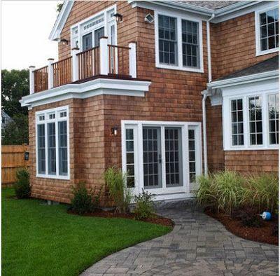 Fachadas de casas rústicas, diseños y materiales Pergolas and House