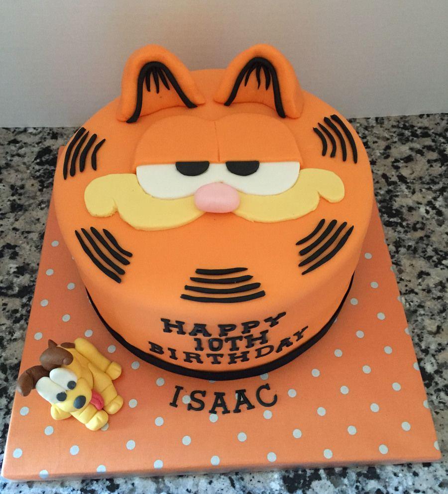Astounding Garfield Birthday Cake With Odie With Images Garfield Cake Personalised Birthday Cards Veneteletsinfo