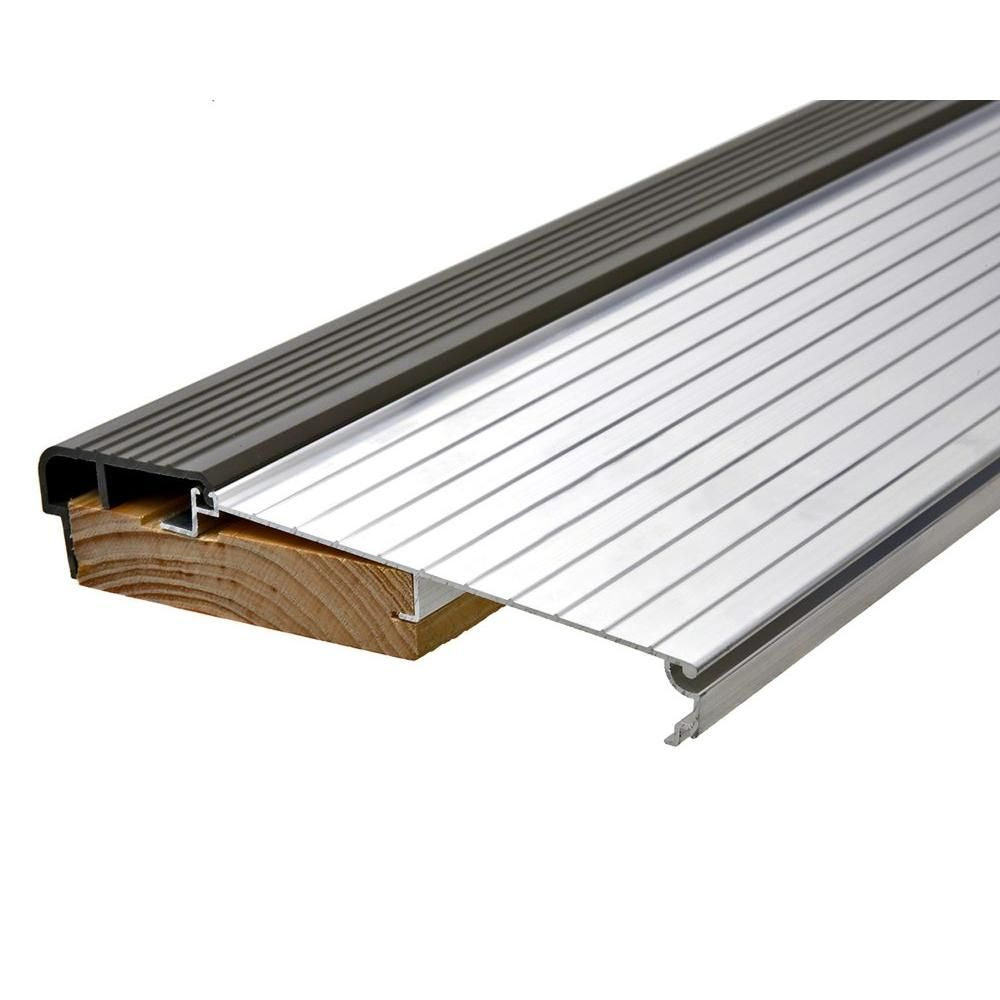 Frost King E O 5 5 8 In X 3 Ft Silver Brown Fixed Sill Threshold Ts36a The Home Depot Door Thresholds Metal Doors Exterior Exterior Doors