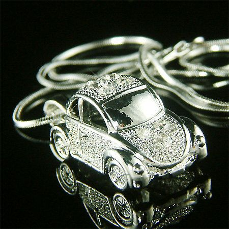 VW CAR NECKLACE HERBIE LOVEBUG LOVE BUG With Or Without HEART
