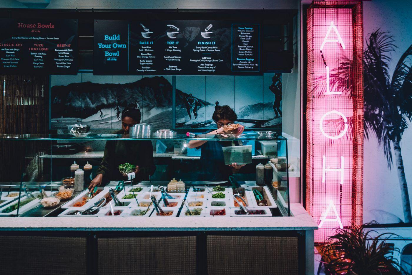 Island Poke Interior Design Restaurant Hospitality Design Branding