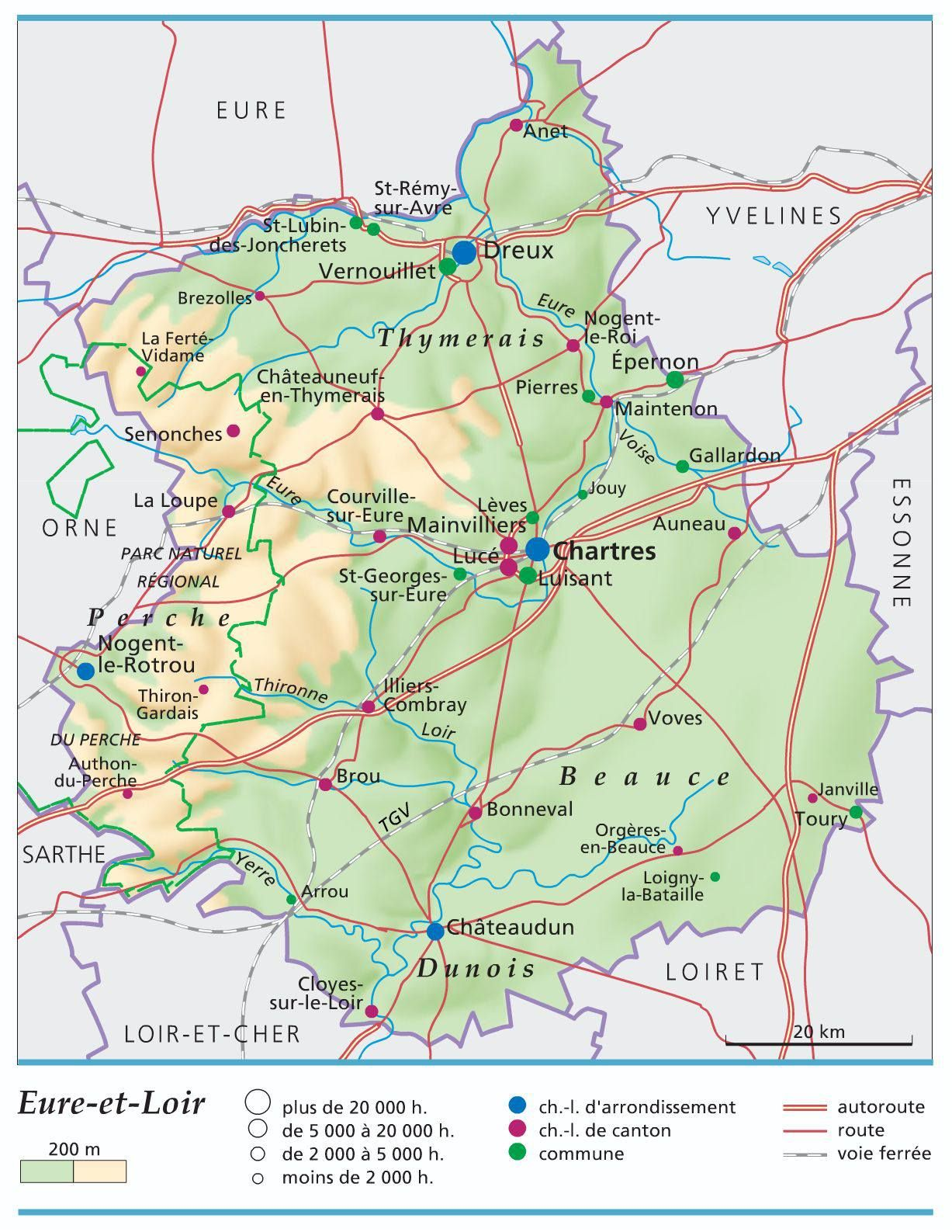 Eure et Loir carte