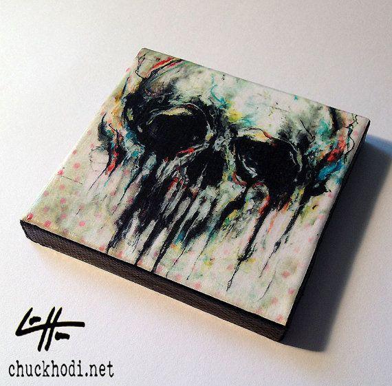 Mini Canvas Print Limted Edition of 4  Skull  by chuckhodi on Etsy, $17.00