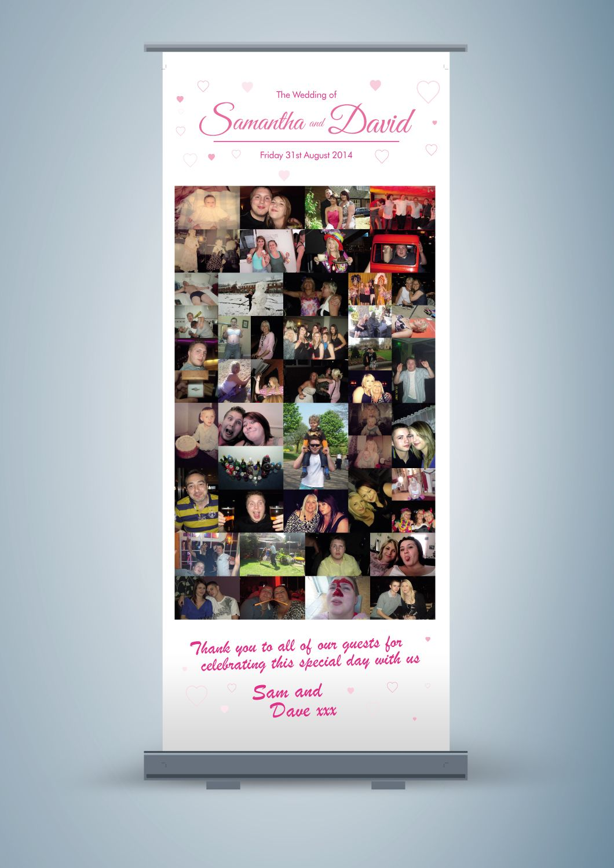 Large Personalised Pop up Banner http://shop.weddingmarket.co.uk ...