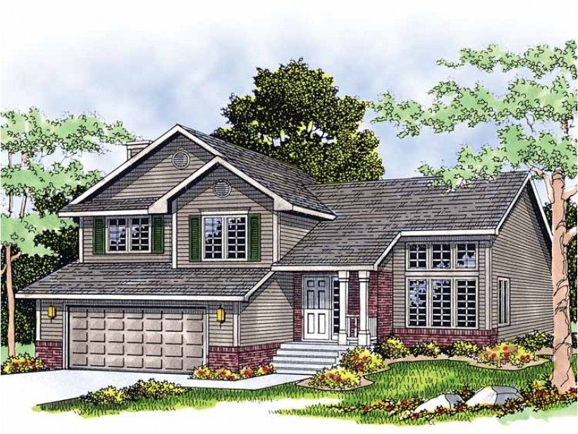 Eplans split level house plan multi level home 1732 for Eplan house plans