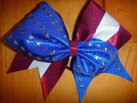 Patriot Cheer  bow by TonTonsBowtique on Etsy
