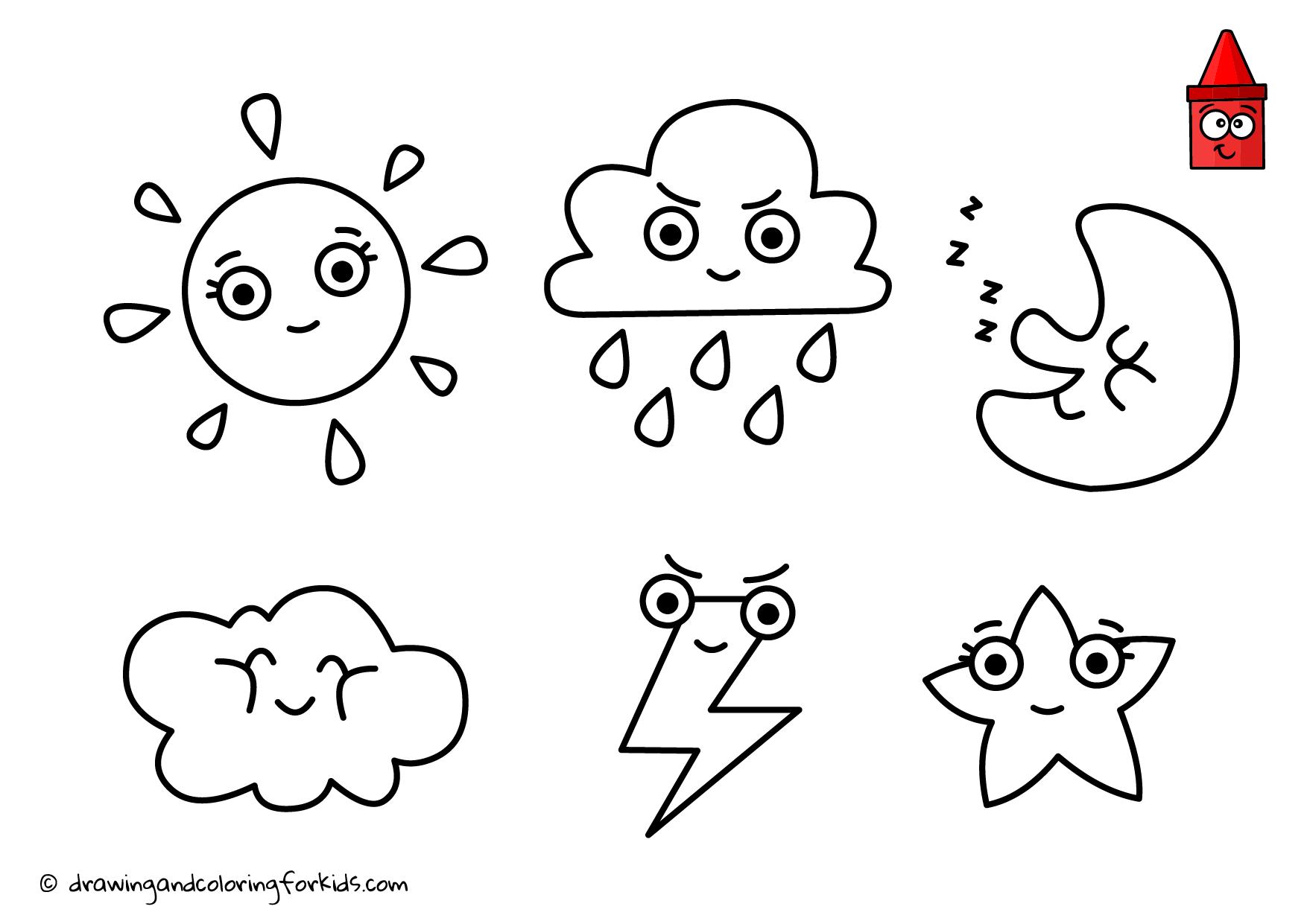Weather Emoji For Kids