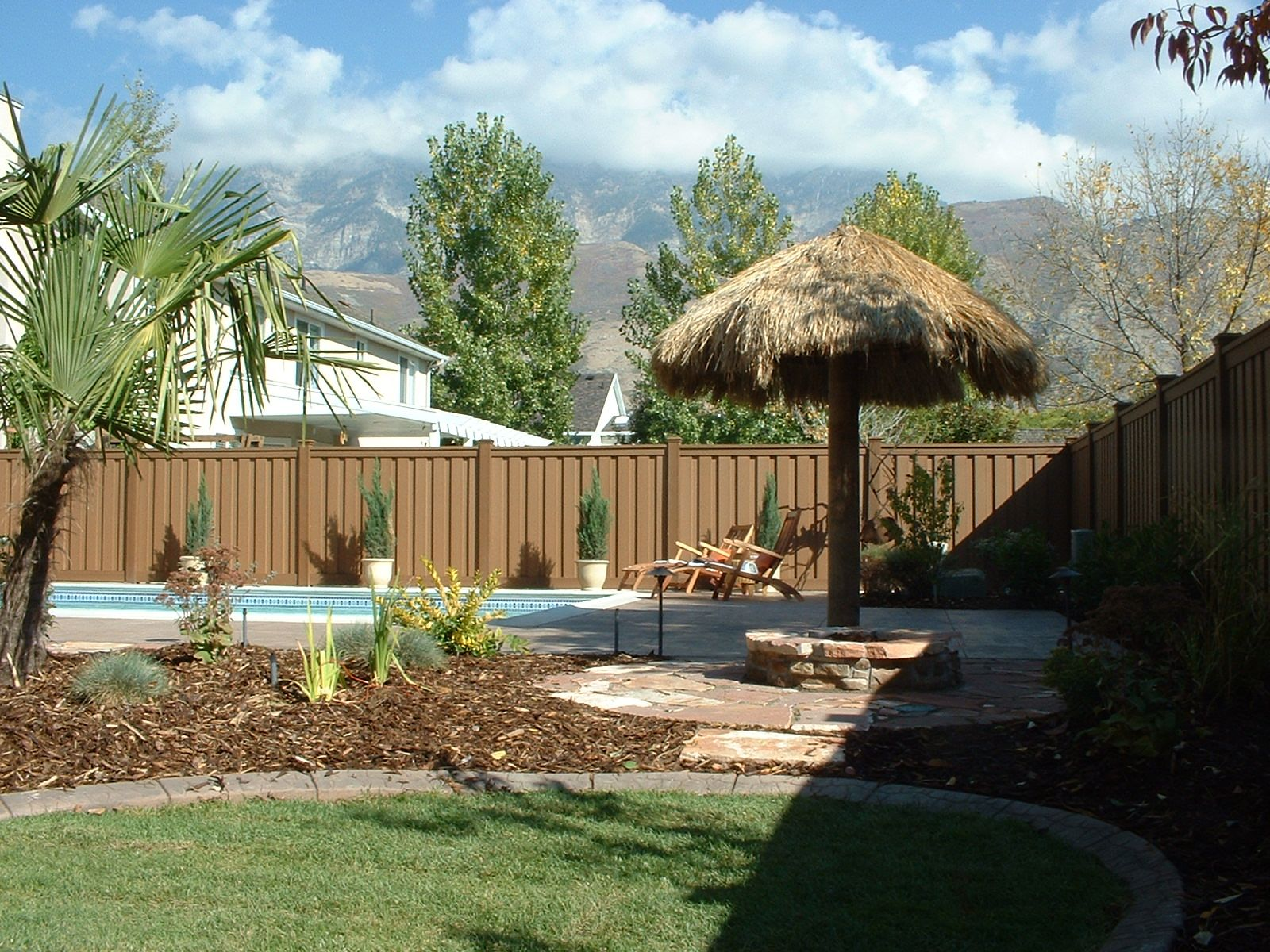 put a fence around a pool fence idea for landscaping and privacy