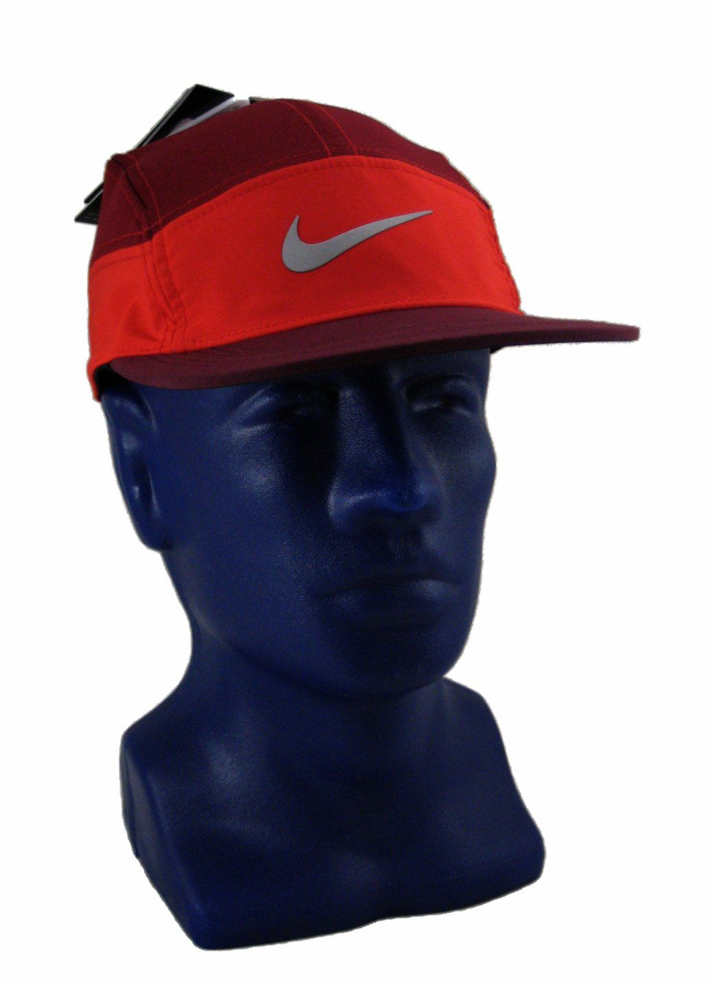 8313681804acd Unisex Nike AW84 Zip Adjustable Running Hat 778363-658 Red Maroon. Dri Fit