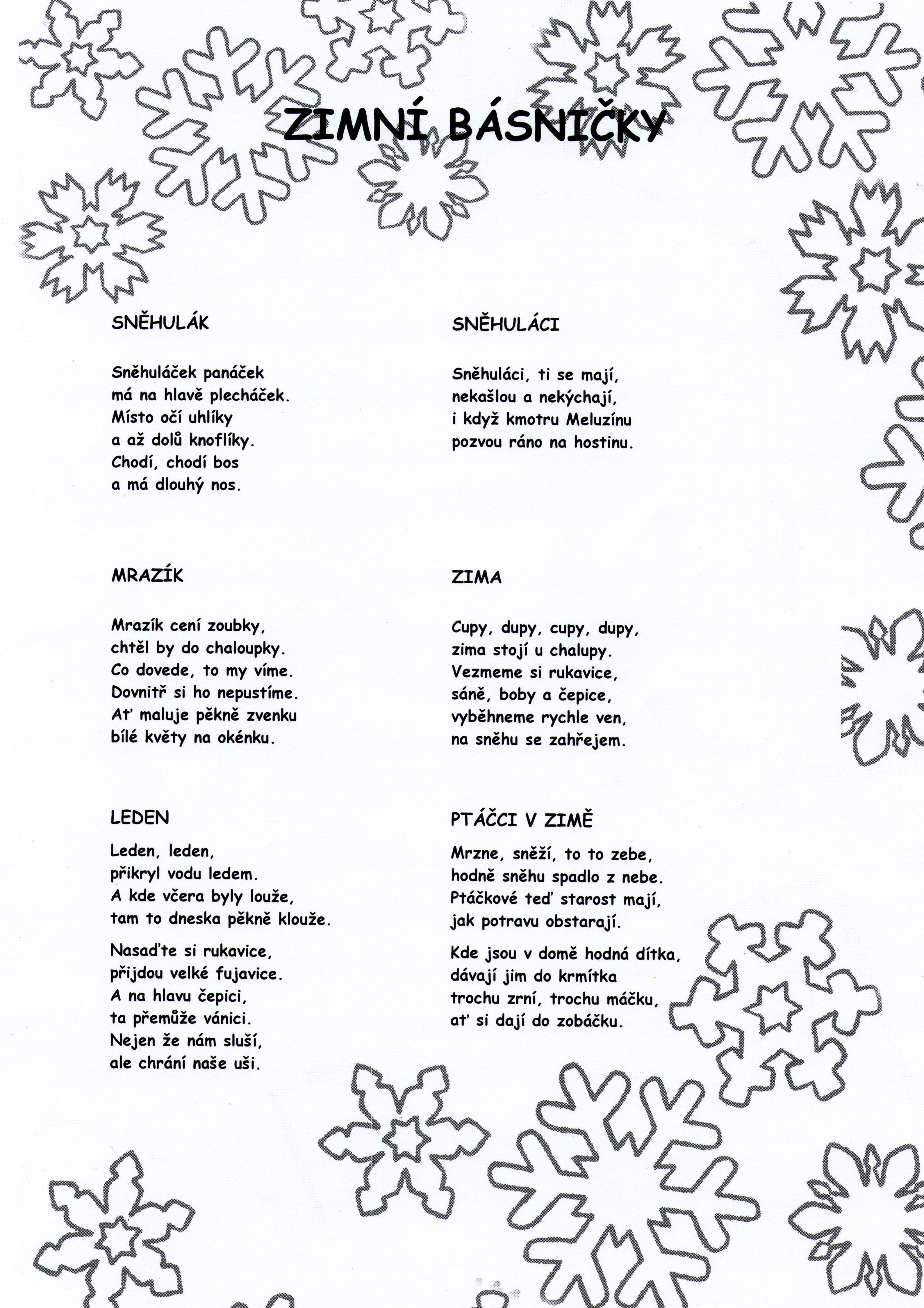 50+ Básničky ideas | básně, škola, předškoláci