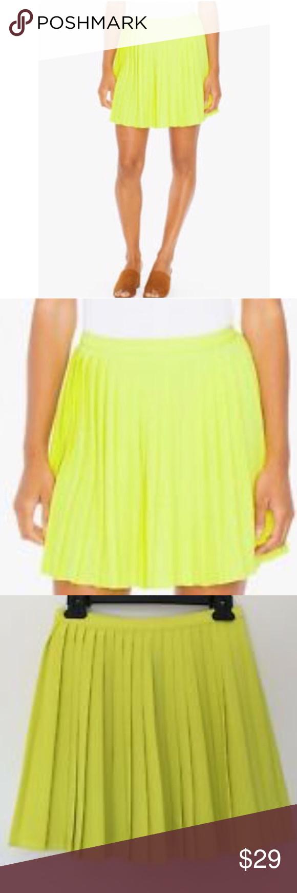 b78ad28e99 American Apparel Crepe Sunburst Pleated Skirt S&M Super cute! New, flirty  crepe mini skirt