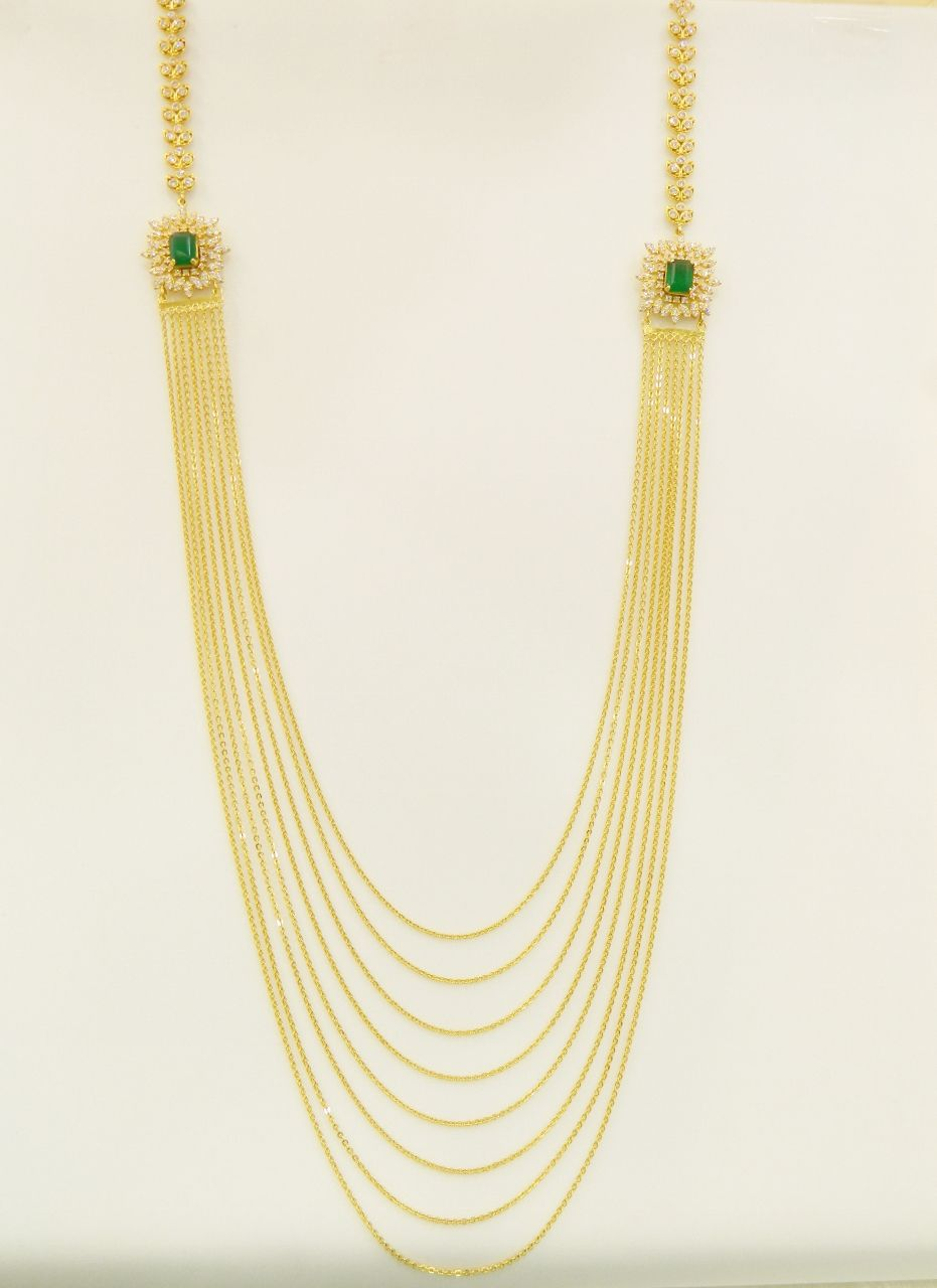 b052c8417 Necklaces / Harams - Gold Jewellery Necklaces / Harams (NK7990RECZ73) at  USD 3,926.59 And GBP 3,200.04