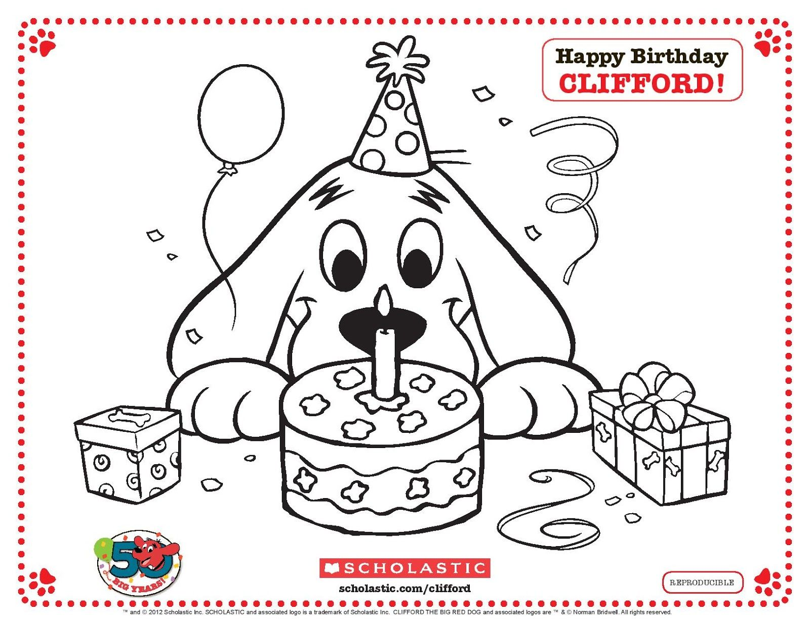 Puppy Clifford Coloring Pages We Also Had Fun Cakepins