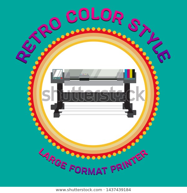 large format printer retro color printer stock vector royalty free 1437439184 pinterest