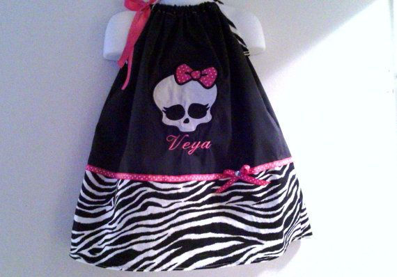 Monster High pillowcase dress by spoiledkidzboutique on Etsy, $25.00