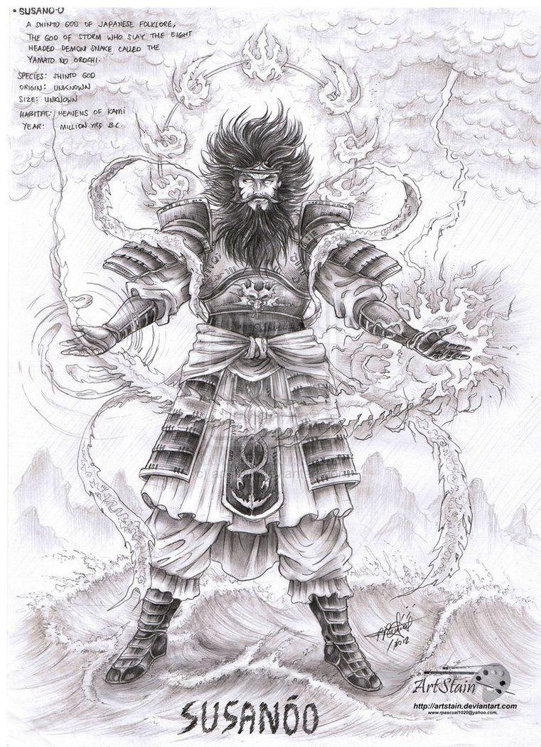 Known As Takehaya Susanoo No Mikoto The Shinto God Of The Sea And