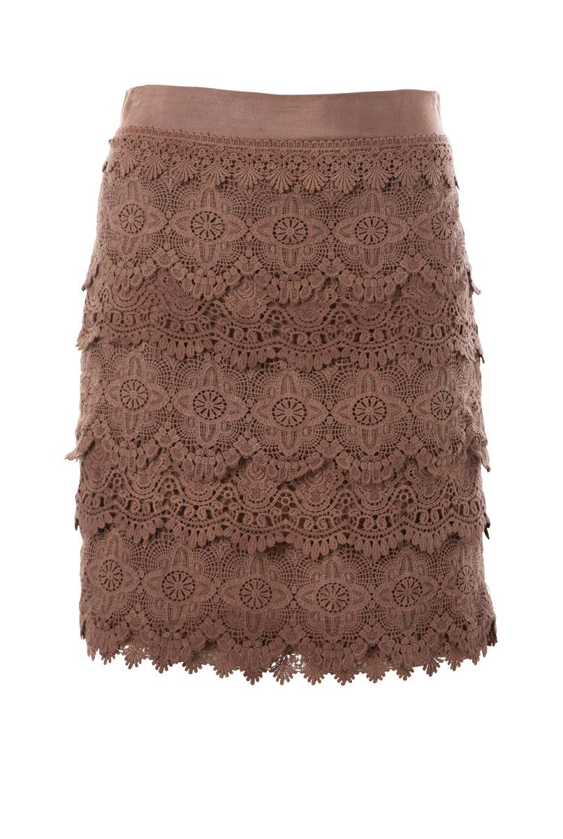 Lace skirt ~ gorgeous with polo-neck and boots for winter....of course you have to have absolutely NO hips to pull this off :)