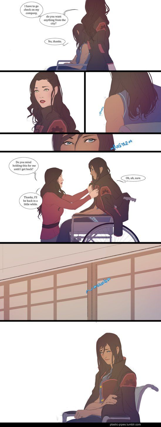 This is cute and sweet when I think of them. I ship Korrasami