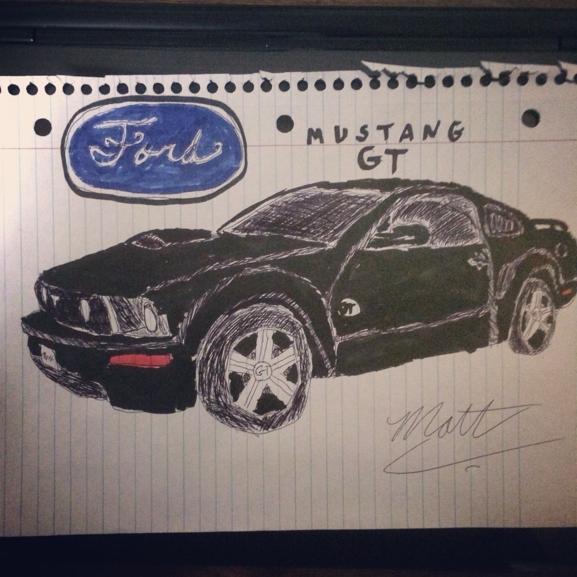 2005 Ford Mustang Gt Drawing One Of My Drawings Pinterest