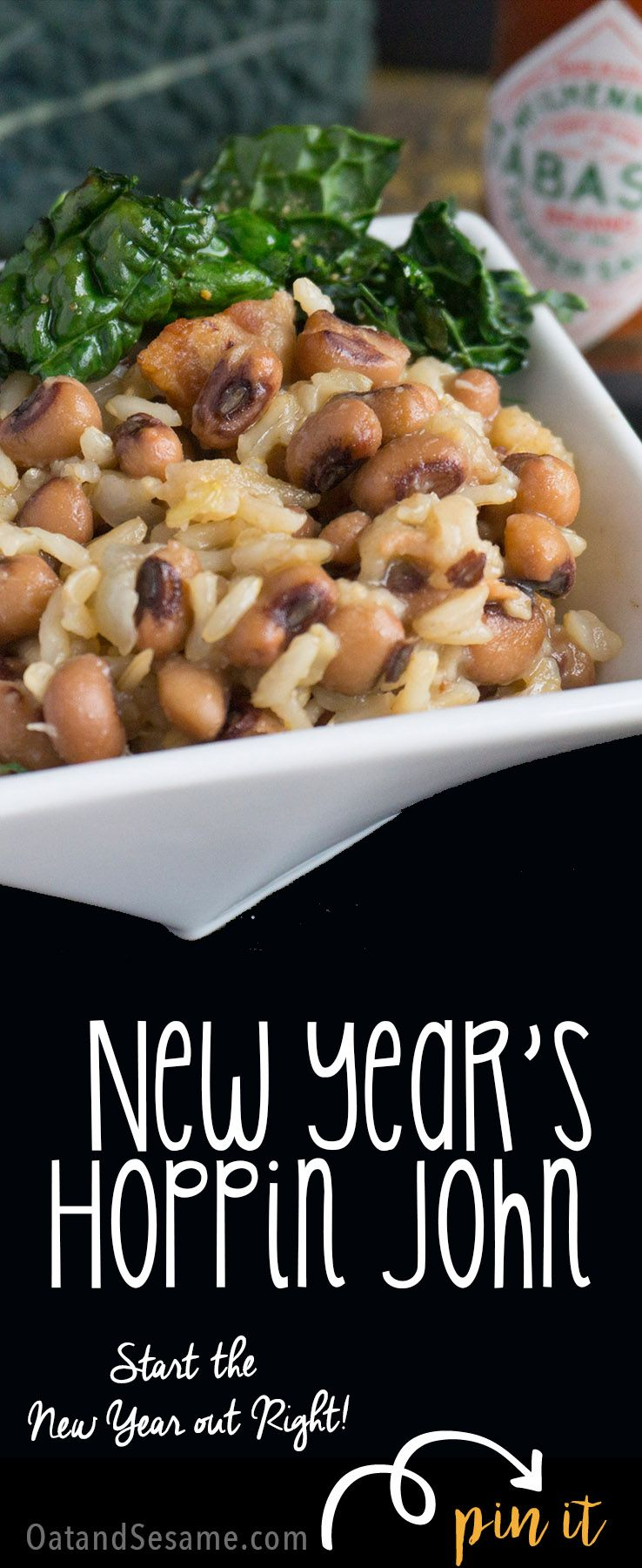Skillet Hoppin' John Southern Black Eyed Peas and Rice