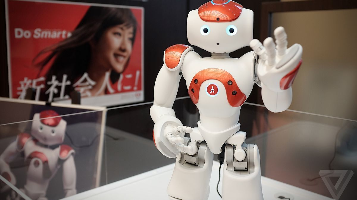 My bank is now staffed by a helpful robot