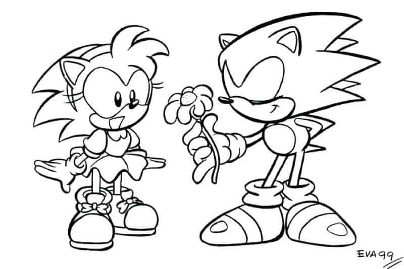 Sonic The Hedgehog And Tails Coloring Pages Portraits